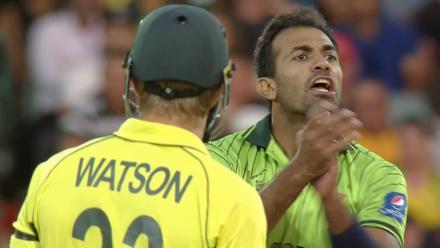 Wahab Riaz's fiery spell against Shane Watson