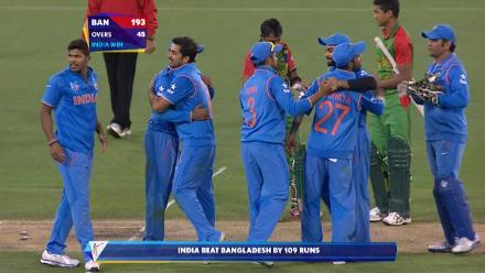 India V Bangladesh Match Highlights Cwc Quarter Final