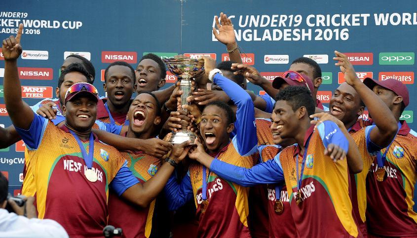 West Indies winning the ICC U19 Cricket World Cup 2016