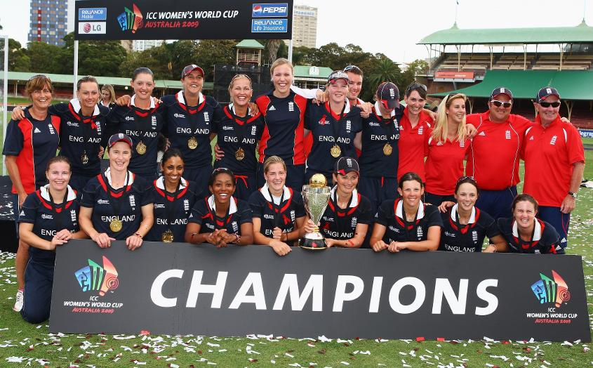 England winning the ICC Women's World Cup in 2009