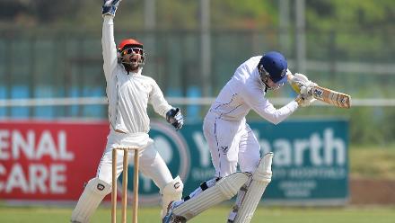 Afghanistan wicketkeeper Afsar Zazai appeals for LBW