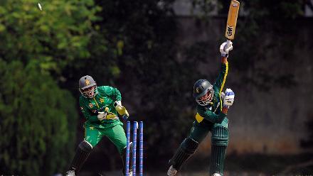 Trisha Chetty bowled by Nashra Sandhur