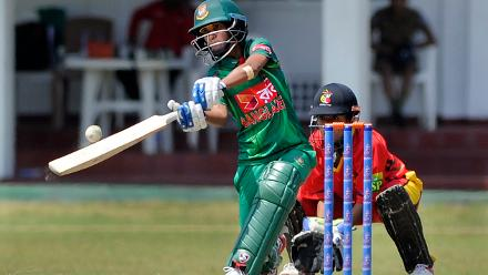 Salma Khatun in action against PNG