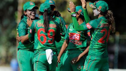Bangladesh captain celebrates Konio Oalas wicket