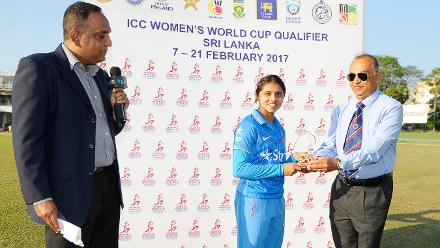 Devika Vaidya was adjudged the Player of the Match