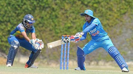 Mithali Raj batting against SL Women