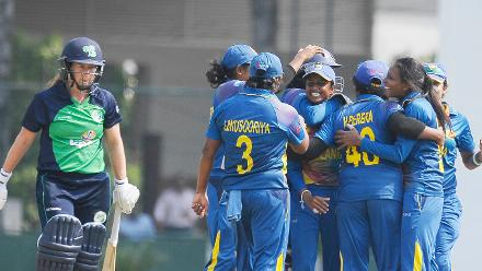 Ireland women could not score at a rapid pace after the early fall of wickets