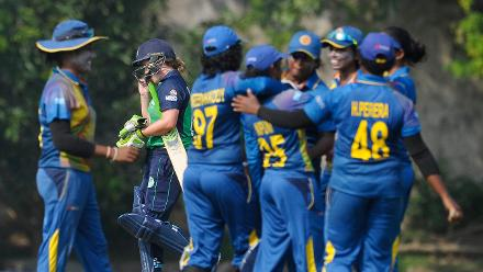 Sri Lanka women kept chipping at the Ireland wickets regularly to hand them a 146-run defeat in a Group A game of the ICC Women's World Cup Qualifiers 2017.