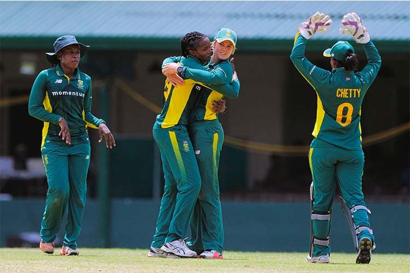 Dane van Niekerk became the first South Africa Women bowler to reach 100 ODI wickets
