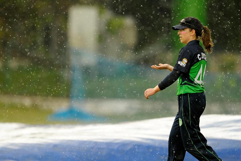 Ireland falls short by 36 runs via the DLS method in rain-affected final Super Six game.