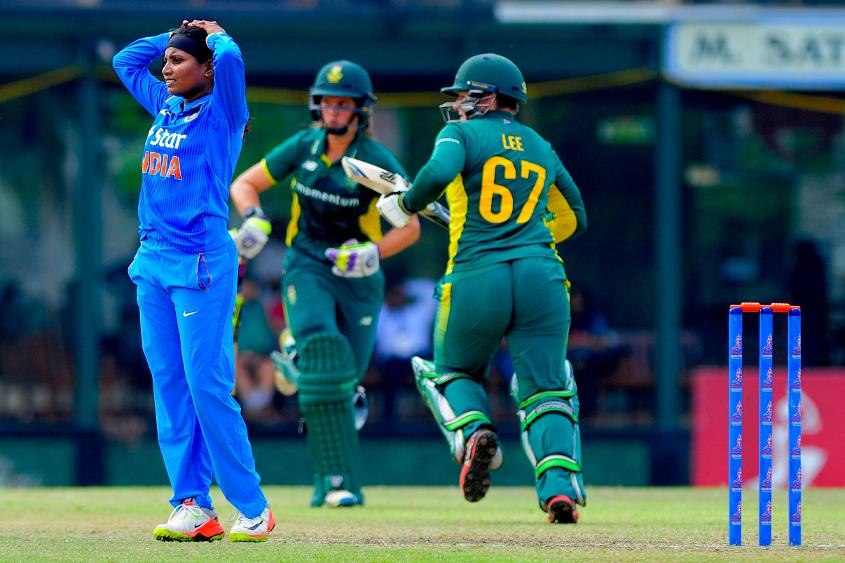 Mignon du Preez top scored for South Africa Women, as they set a target of 245 for India Women to chase