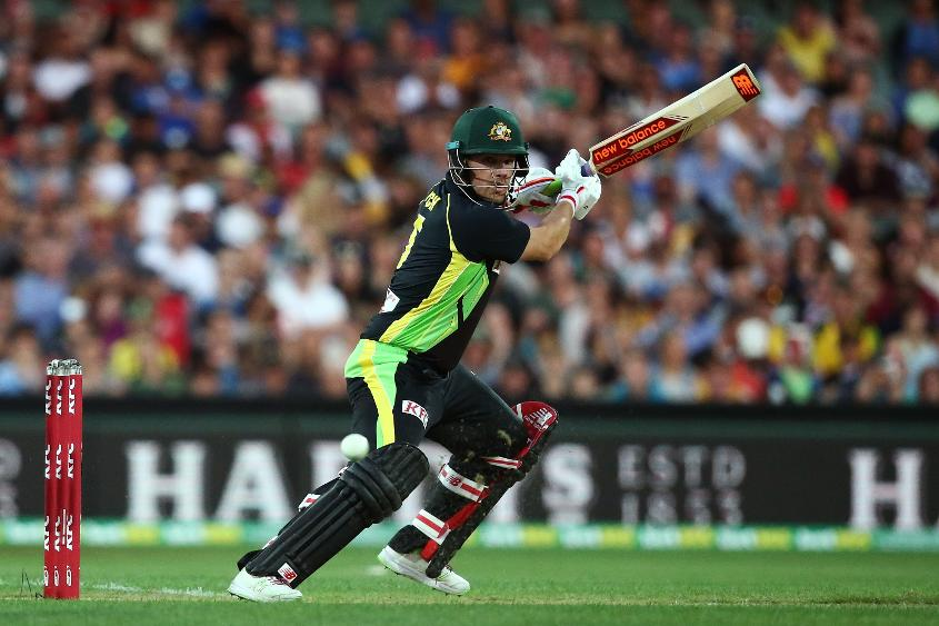 Aaron Finch scored a quick-fire half century as Australia ended the first innings on a strong 187 for 6