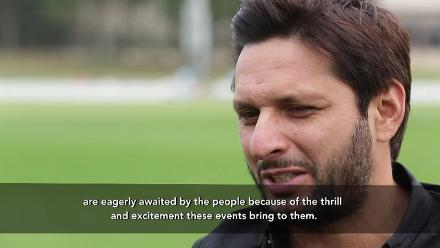 ICC Champions Trophy 2017 Nissan Trophy Tour launch with Shahid Afridi in Dubai