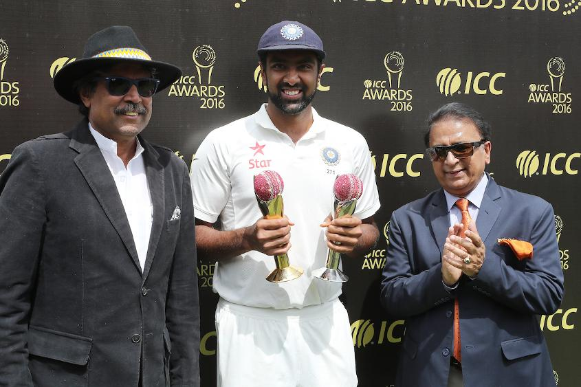 Ashwin received the Sir Garfield Sobers Trophy for 2016