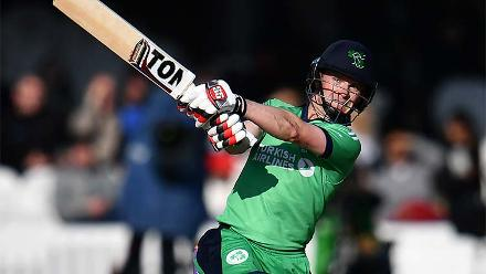William Porterfield, the Ireland captain, was the top scorer of the day with 82 off 83 balls.