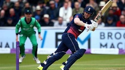 Eoin Morgan, the Ireland-born England captain, made 76 off 79 balls against his former teammates.