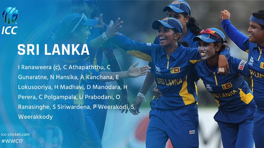 Sri Lanka has named eight players who featured at the 2013 ICC World Cup.