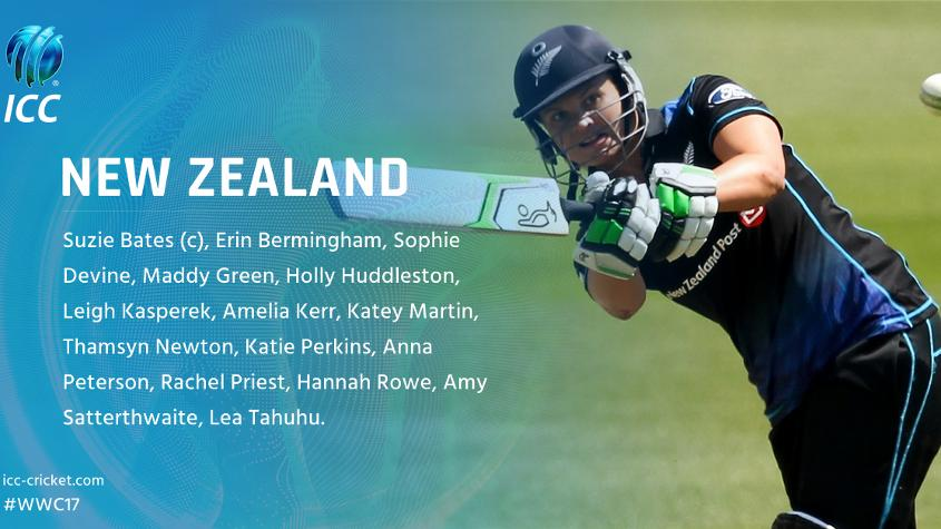 Suzie Bates (98 caps) and Amy Satterthwaite (95) can both make their 100th ODI appearance at the ICC Women's World Cup.