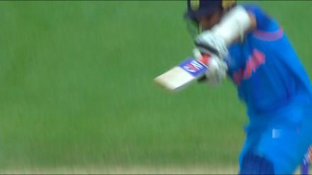 #CT17 Warm-Up: Ajinkya Rahane wicket