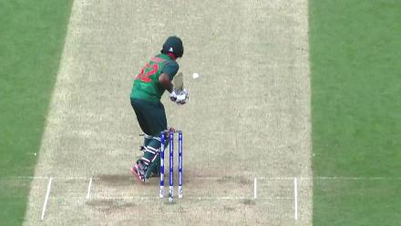 #CT17 Warm-Up: Mosaddek Hossain wicket