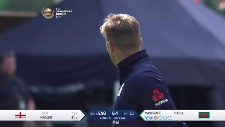 England inning wicket