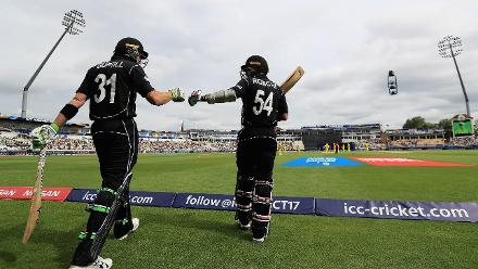 The two New Zealand openers come out on the field