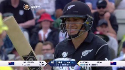 WICKET: Ross Taylor falls to John Hastings for 46