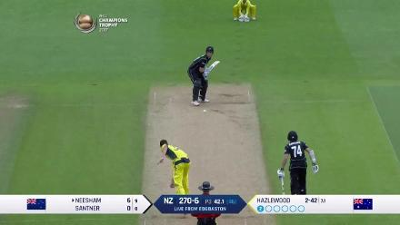 FALL OF WICKETS: New Zealand folds for 291