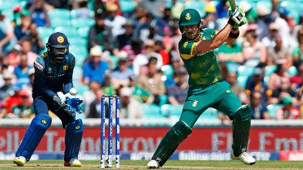 Faf du Plessis was the other South African batsman to score a half century, smashing 75 off 70 balls