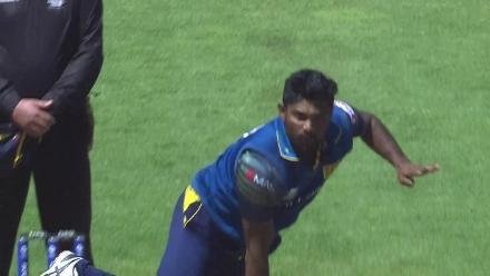 WICKET: AB de Villiers falls to Seekkuge Prasanna for 4