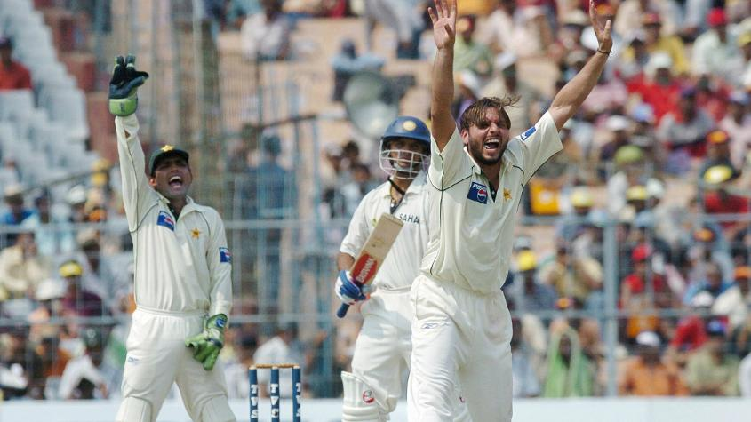 Shahid Afridi smashed a 34-ball 58 to set up a declaration, he then ripped out Sachin, VVS Laxman and Sourav Ganguly in a single spell on the final afternoon as Pakistan raced to victory.