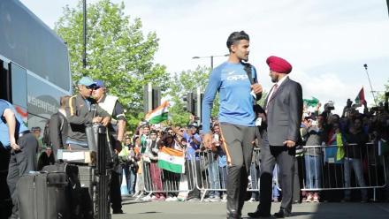 #CT17 Ind v Pak: Indian team arrives at Edgbaston, Birmingham
