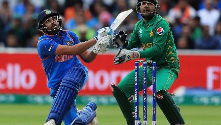 Rohit Sharma combined with Shikhar Dhawan for an opening partnership of 136 runs