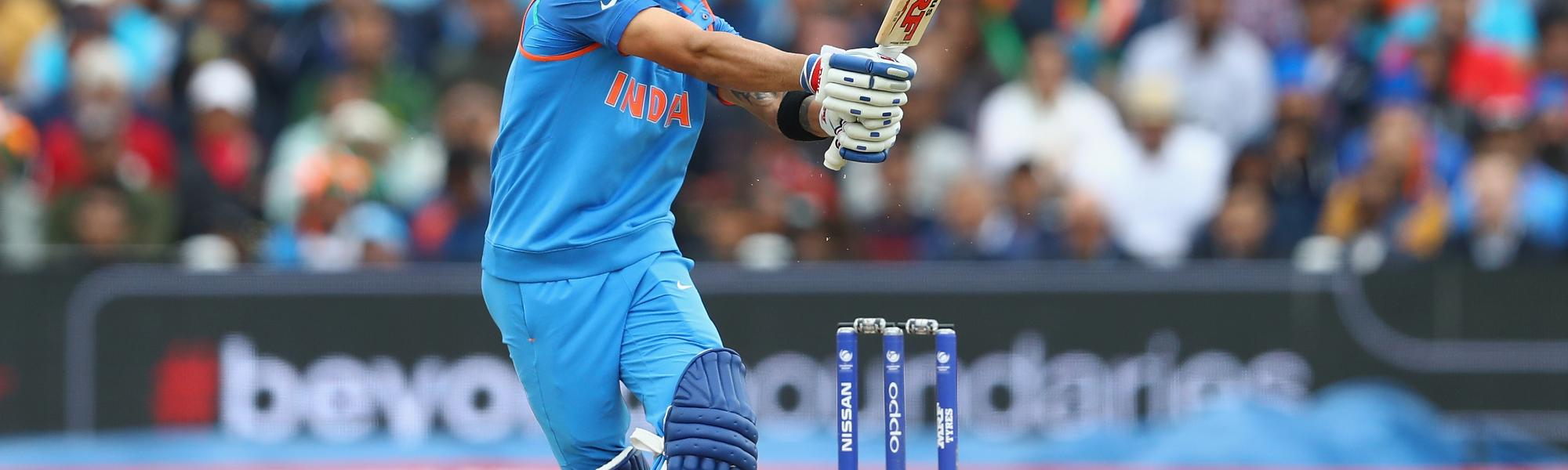 Virat Kohli added 81 off 68 deliveries to lift India t an imposing total of 319 for 3