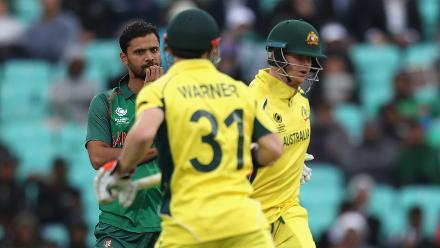Australia were 83 for 1 in 16 overs – well ahead of the DLS Method par of 39 at that stage – in chase of a paltry target of 183 when rain arrived to kill their chance of gaining full points.