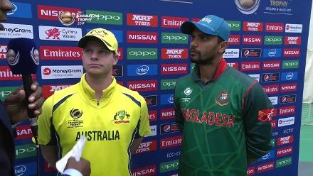#CT17 Aus v Ban - Captains Interview