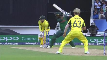 WICKET: Mahmudullah is dismissed by Zampa for 8