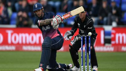 While Jason Roy had another forgettable day with the bat, Alex Hales continued with his good nick from the last game against Bangladesh with a composed 62-ball 56 before being castled by Adam Milne.