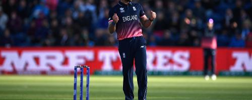 Liam Plunkett finished with figures of 3 for 55 in 9.1 overs as England shot out New Zealand for 223 in 44.3 overs and make it to the semi final with a comprehensive 87-run win.