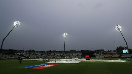 The rain continued, and Pakistan were declared winners by 19 runs (DLS Method)