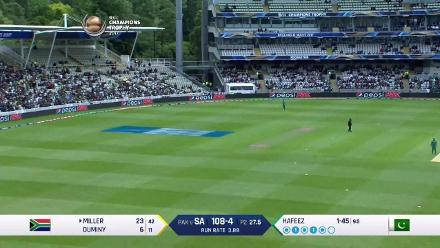 FIFTY: David Miller brings up his half-century for South Africa