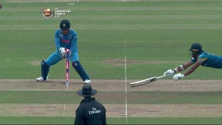 WICKET: Gunathilaka run-out courtesy a quick work by Dhoni