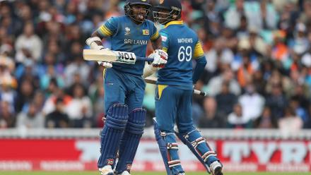 Kusal Perera and Angelo Mathews then put on a 75-run fourth-wicket stand before the former hobbled off the field due to a hamstring injury.