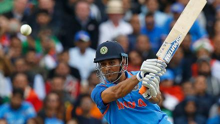 MS Dhoni's 52-ball 63 provided India with a crucial late burst helping it to 321 for 6 in 50 overs.