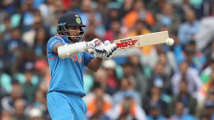 Shikhar Dhawan retained composure going well past his fifty.