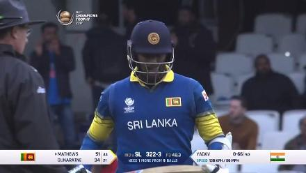 #CT17 Ind v SL: Angelo Mathews dazzles with a 45-ball 52 to take Sri lanka home