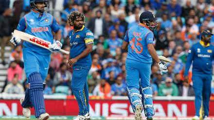 Rohit Sharma and Shikhar Dhawan took India off to a solid start.