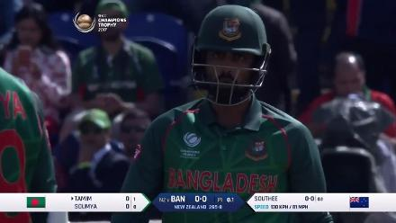 WICKET: Tamim Iqbal falls to Tim Southee for 0
