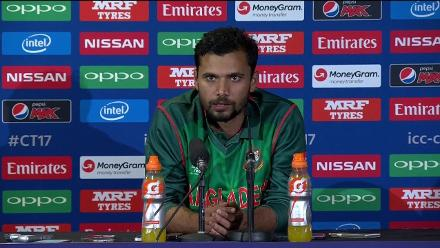 #CT17 NZ v BAN - Mashrafe Mortaza Press Conference
