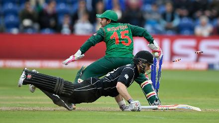 Williamson scored 57 before being run out in the 30th over